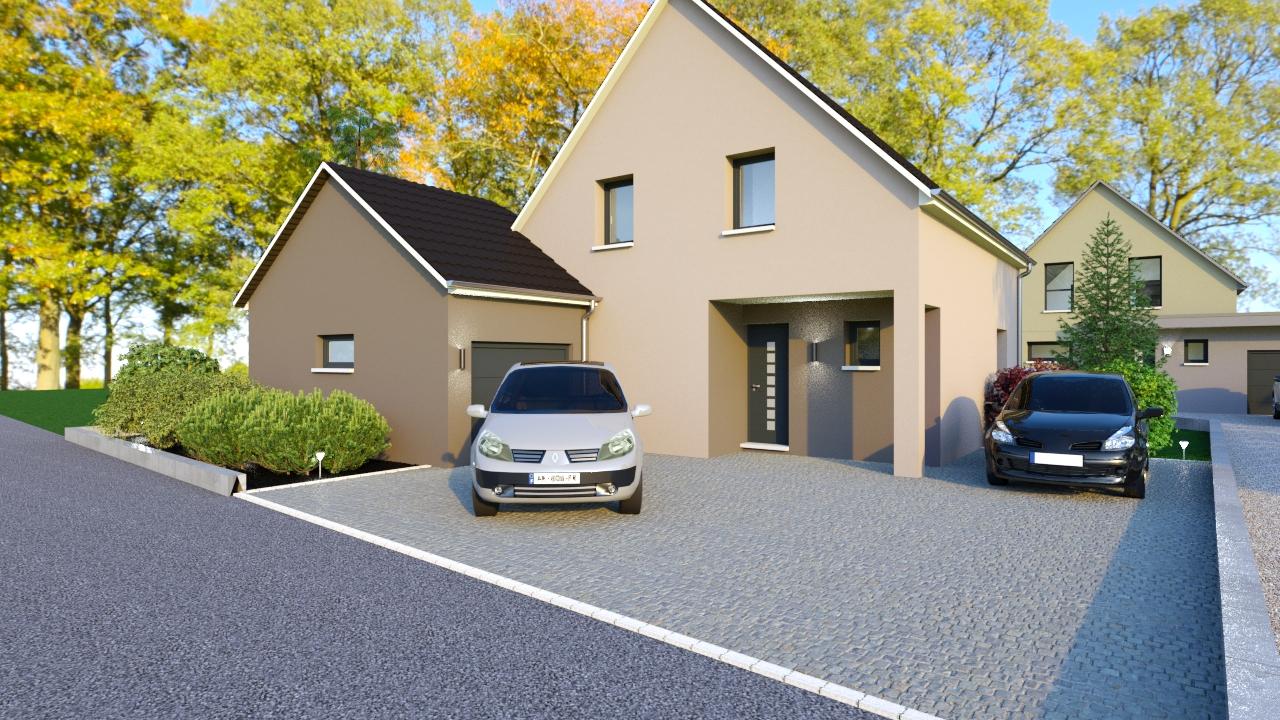 Maison avec garage accolé