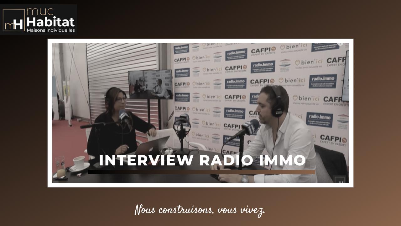 Interview de Romain Leroy, Muc Habitat sur Radio Immo