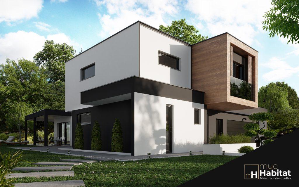 Maison contemporaine à toit plat Alsace