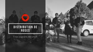 🌹 Distribution de Roses à nos soignants à Brumath