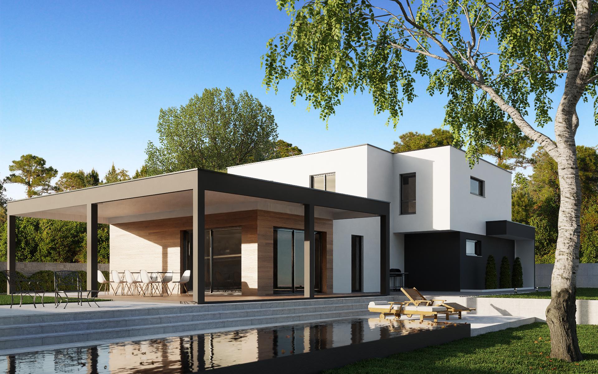 Maison à toit plat Alsace
