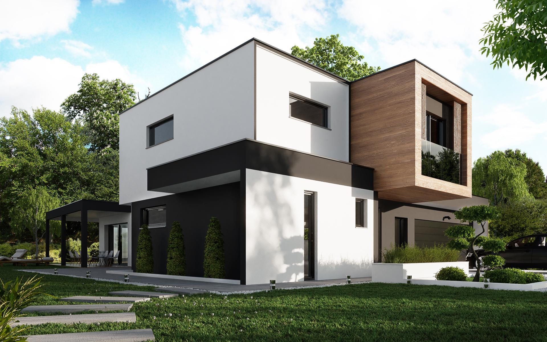 Maison à toit plat Muc Habitat