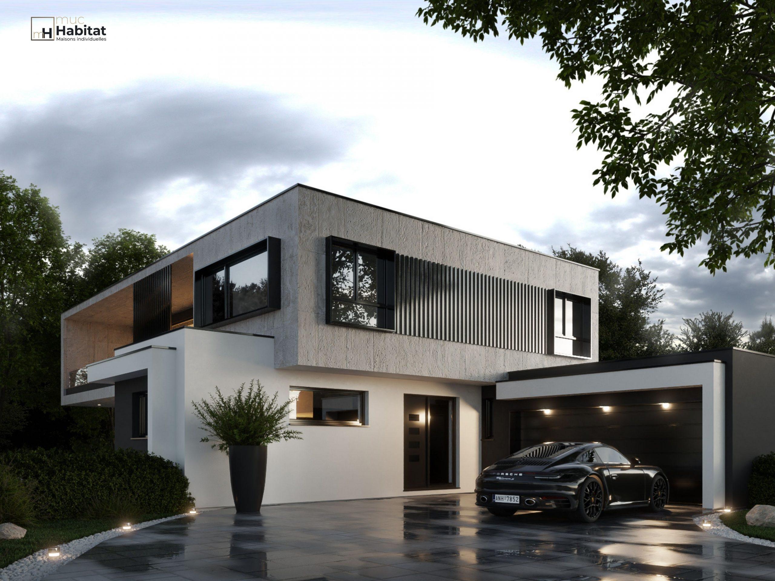 Maison contemporaine 3D