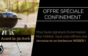 Offre spéciale confinement : recevez une terrasse et un barbecue Weber !